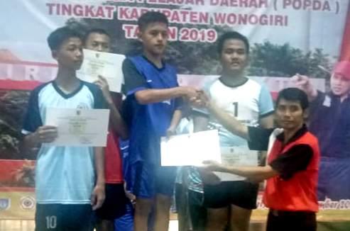 Tim Sepak Takraw Distrik Jatisrono Meraih Gelar Juara Pertama