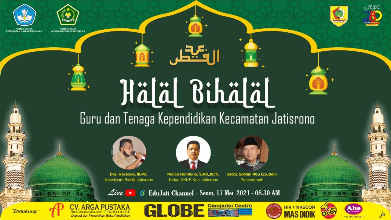 Urip Iku Urup, GTK Jatisrono Gelar Virtual Halal bi Halal